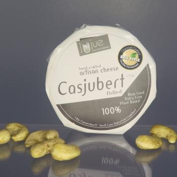artisan plant-based vegan Brie style cheese Casjubert-1 Ashed