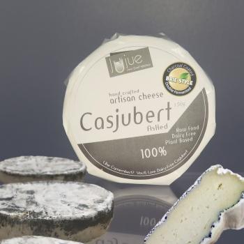 artisan plant-based vegan Brie style cheese Casjubert-3 Ashed